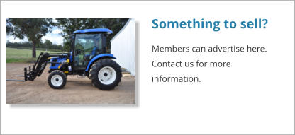 Something to sell? Members can advertise here. Contact us for more information.